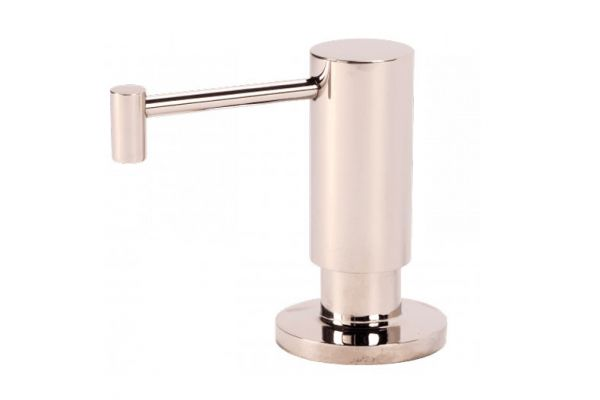 Large image of BTI Aqua-Solutions Contemporary Straight Spout Polished Nickel Soap & Lotion Dispenser - SL5065-PN