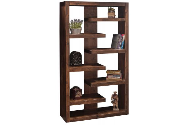 "Large image of Legends Furniture 72"" Sausalito Collection Bookcase - SL6972-WKY"