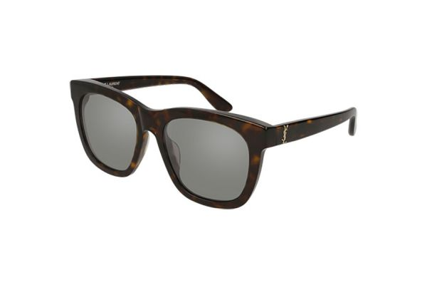 Large image of Saint Laurent Havana Square Unisex Sunglasses - SL M24/K-002 55