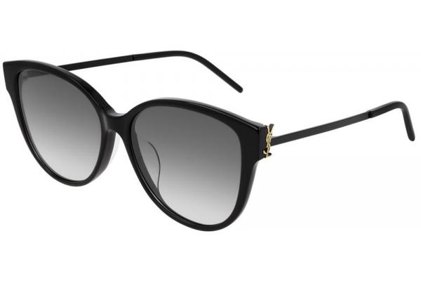 Large image of Saint Laurent Black Cat-Eye Womens Sunglasses - SLM48AK002