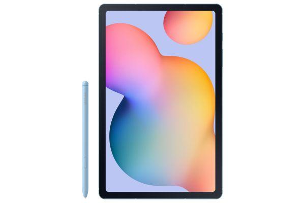 "Large image of Samsung Galaxy Tab S6 Lite 10.4"" 128GB Angora Blue Tablet - SM-P610NZBEXAR"