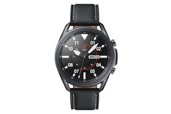 Large image of Samsung Mystic Black Galaxy 45mm Watch3 Bluetooth Smartwatch - SM-R840NZKAXAR