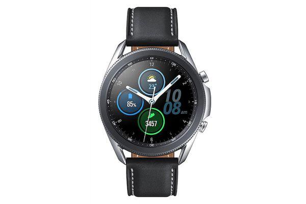 Large image of Samsung Mystic Silver Galaxy 45mm Watch3 Bluetooth Smartwatch - SM-R840NZSAXAR