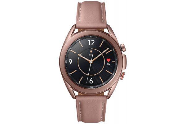 Large image of Samsung Mystic Bronze Galaxy 41mm Watch3 Bluetooth Smartwatch - SM-R850NZDAXAR