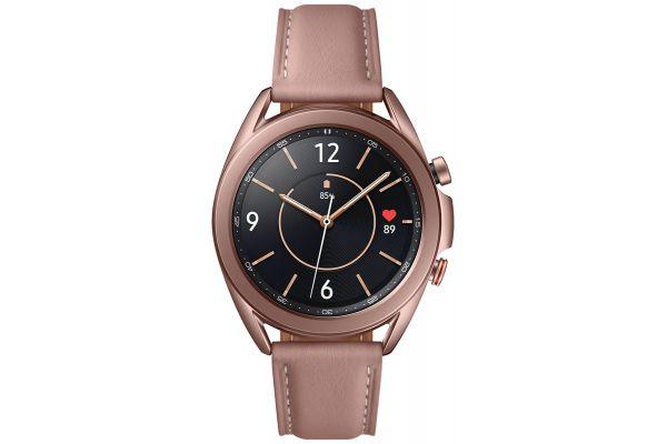 Large image of Samsung Mystic Bronze Galaxy 41mm Watch3 Smartwatch (LTE) - SM-R855UZDAXAR