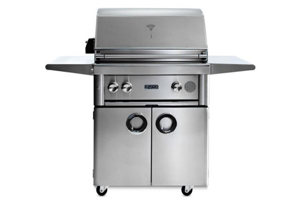 """Large image of Lynx 30"""" Stainless Steel Professional Freestanding Liquid Propane Gas Smart Grill With Rotisserie - SMART30FLP"""