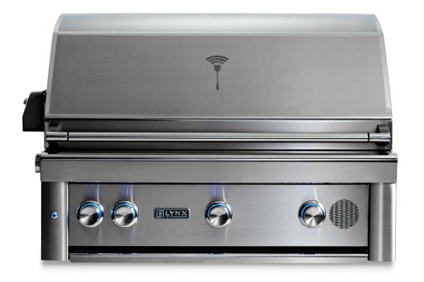 """Large image of Lynx 36"""" Stainless Steel Professional Built-In Liquid Propane Gas Smart Grill With Rotisserie - SMART36-LP"""