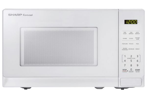 Large image of Sharp White Countertop Microwave Oven - SMC0710BW