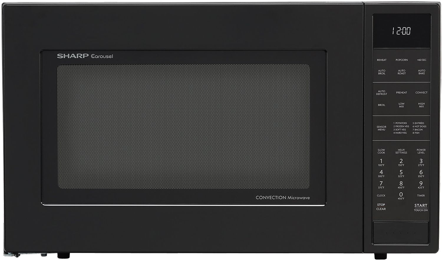 Sharp Black Convection Countertop Microwave Smc1585bb
