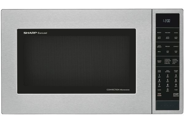 Large image of Sharp Stainless Steel Convection Countertop Microwave - SMC1585BS