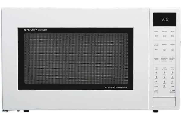 Large image of Sharp White Convection Countertop Microwave - SMC1585BW