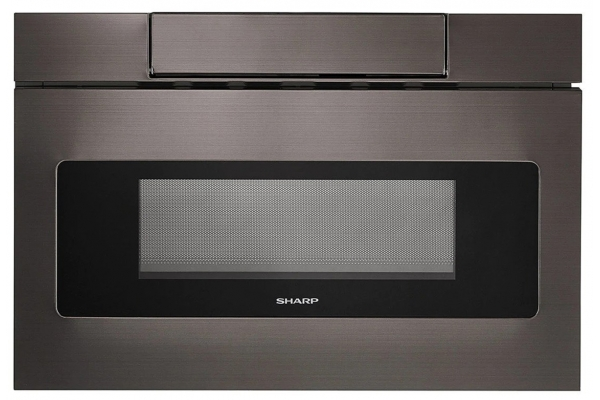 """Large image of Sharp 24"""" Black Stainless Steel Microwave Drawer Oven - SMD2470AH"""