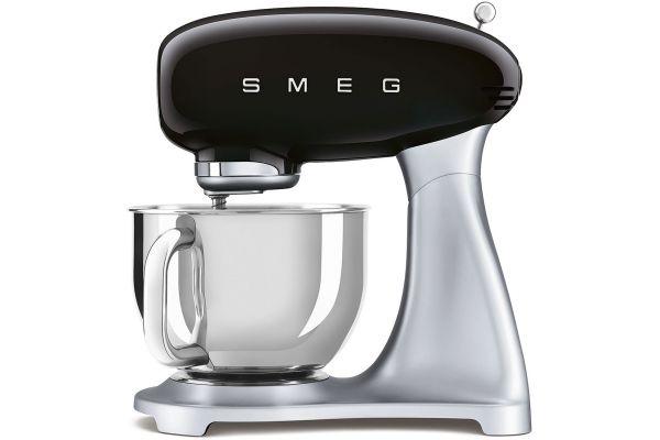 Large image of Smeg 50's Style Black Stand Mixer - SMF02BLUS