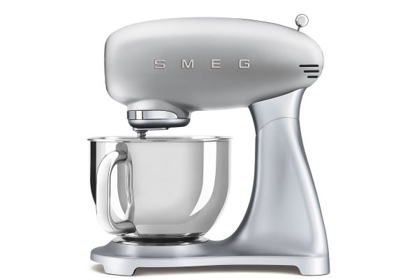 Large image of Smeg 50's Style Silver Stand Mixer - SMF02SVUS