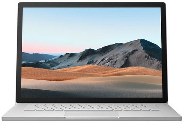 """Large image of Microsoft Surface Book 3 Platinum 15"""" Tablet Computer Intel i7-1065G7 32GB RAM 512GB SSD, NVIDIA GeForce GTX 1660 Ti With Max-Q - SMN-00001"""