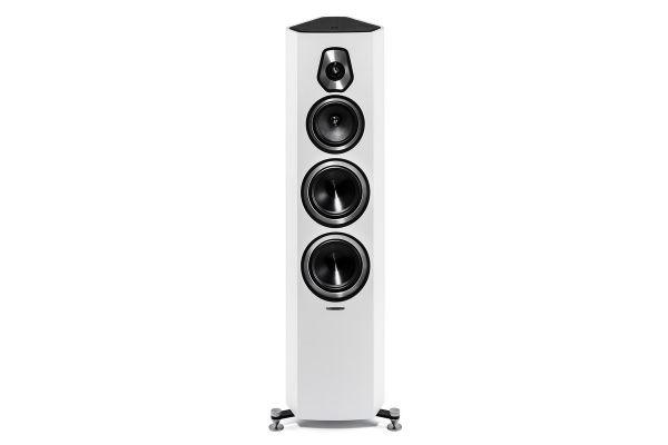 Large image of Sonus Faber Sonetto V White 3-Way Floor Standing Speakers (Pair) - SONETTOVWH
