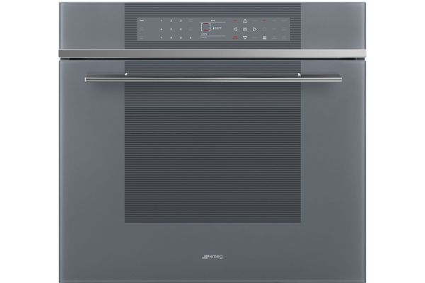 """Large image of Smeg 30"""" Linear Stainless Steel Single Electric Wall Oven - SOU130S1"""