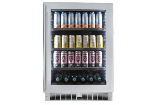 """Large image of Danby Silhouette Saxony 24"""" Stainless Frame Single Zone Beverage Center - SPRBC056D1SS"""