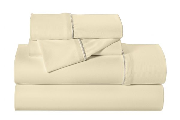 Large image of Bedgear Dri-Tec Moisture Wicking Performance Champagne California King Sheet Set - SPXACFW