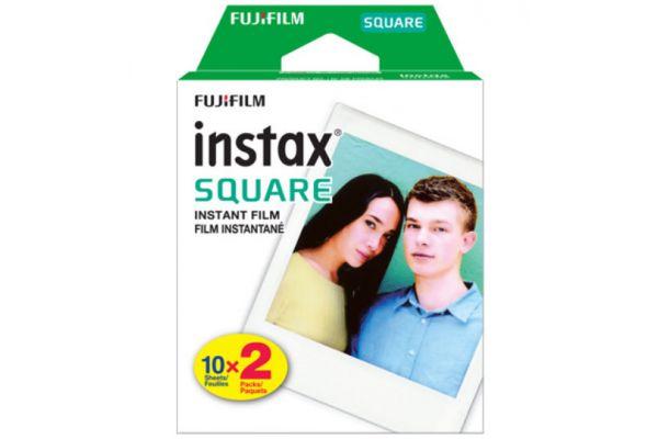 Large image of Fujifilm Instax SQUARE Film 20 Sheet Pack - 16583664  & 2362