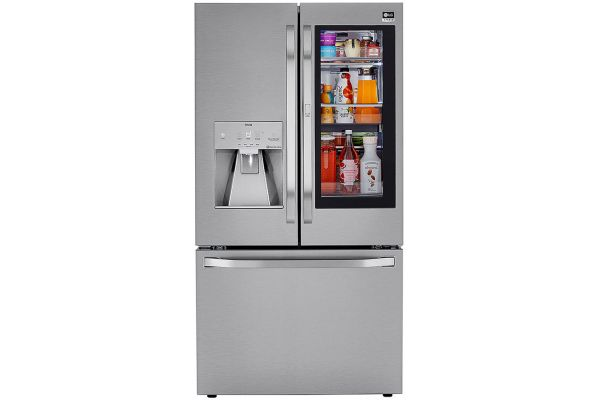 Large image of LG STUDIO 24 Cu. Ft. Stainless Steel Smart Wi-Fi Enabled InstaView Door-In-Door Counter-Depth Refrigerator With Craft Ice Maker - SRFVC2406S