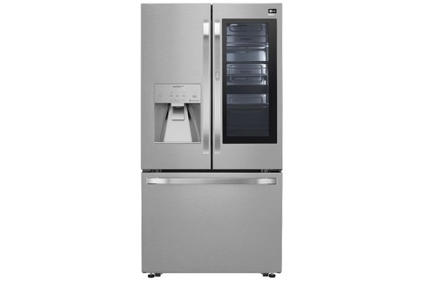 LG STUDIO 24 Cu. Ft. PrintProof Stainless Steel Smart Wi-Fi Enabled InstaView Door-In-Door Counter-Depth Refrigerator With Craft Ice Maker - SRFVC2406S