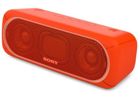 Sony Red Portable Wireless Bluetooth Speaker - SRS-XB30/RED