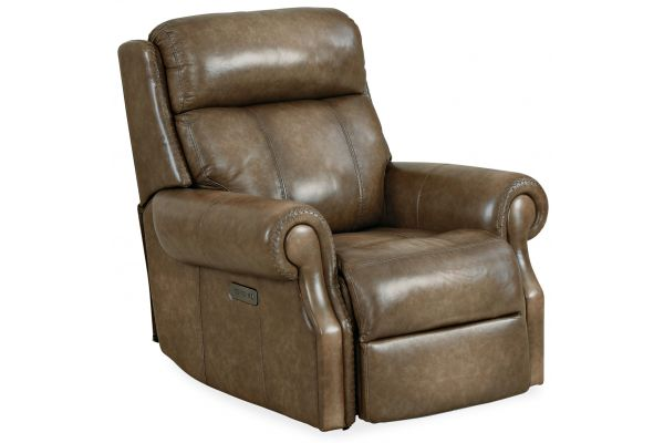 Large image of Hooker Furniture Living Room Brooks Power Recliner With Power Headrest - SS316-PH1-083