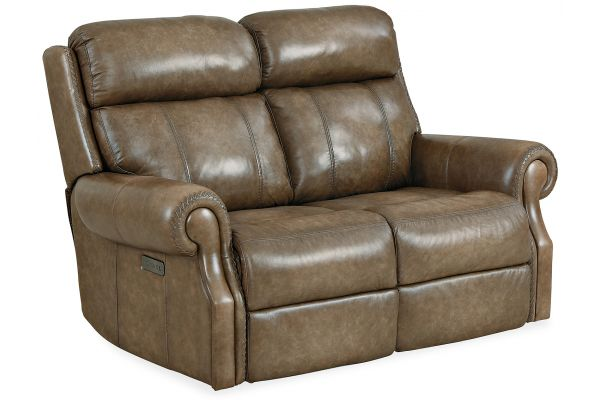 Large image of Hooker Furniture Living Room Brooks Power Loveseat With Power Headrest - SS316-PH2-083