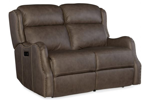 Large image of Hooker Furniture Living Room Sawyer Power Loveseat - SS425-P2-087