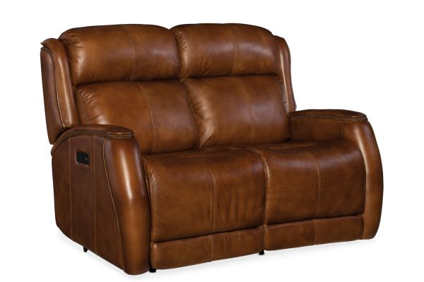 Large image of Hooker Furniture Living Room Emerson Power Loveseat - SS426-P2-085