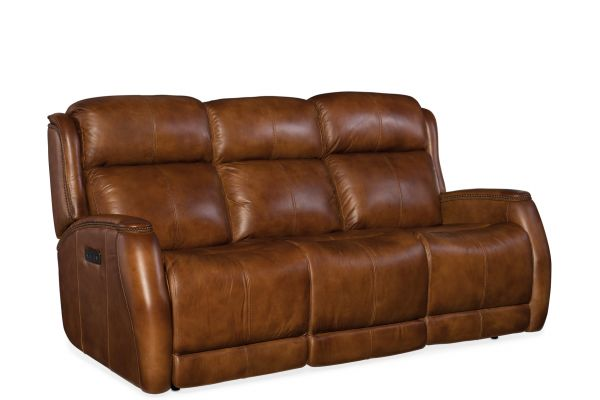 Large image of Hooker Furniture Living Room Emerson Power Sofa - SS426-P3-085