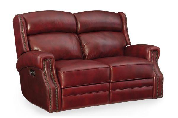Large image of Hooker Furniture Living Room Carlisle Power Motion Loveseat - SS460-P2-165