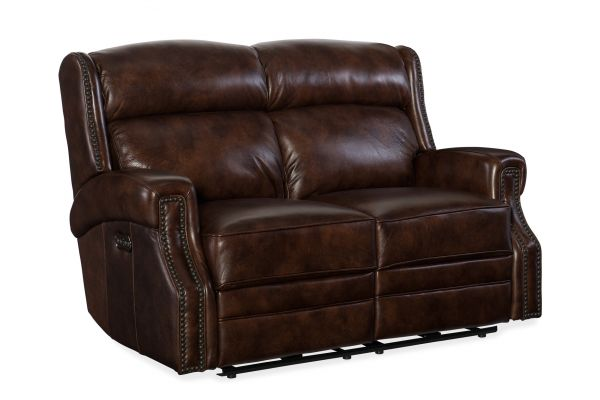 Large image of Hooker Furniture Living Room Carlisle Power Motion Loveseat - SS460-P2-188
