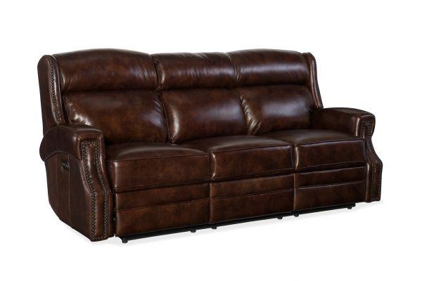 Large image of Hooker Furniture Living Room Carlisle Power Motion Sofa - SS460-P3-188