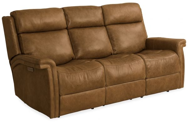 Large image of Hooker Furniture Living Room Poise Power Recliner Sofa With Power Headrest - SS468-P3-088