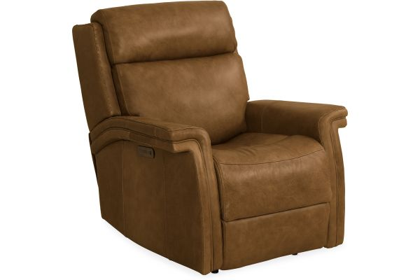 Large image of Hooker Furniture Living Room Poise Power Recliner With Power Headrest - SS468-PWR-088