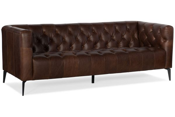 Large image of Hooker Furniture Living Room Nicolla Stationary Sofa - SS637-03-089