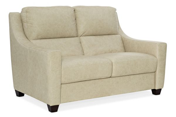 Large image of Hooker Furniture Living Room Monti Leather Stationary Loveseat - SS725-02-003