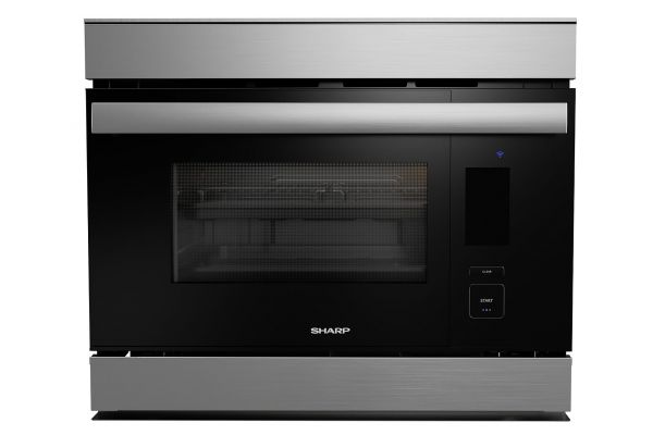 """Large image of Sharp SuperSteam+ 24"""" Stainless Steel Built-In Single Wall Oven - SSC2489DS"""