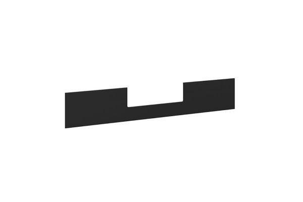 Large image of BDI Stance 6657 Black Lift Desk Modesty Panel - 6657 BK