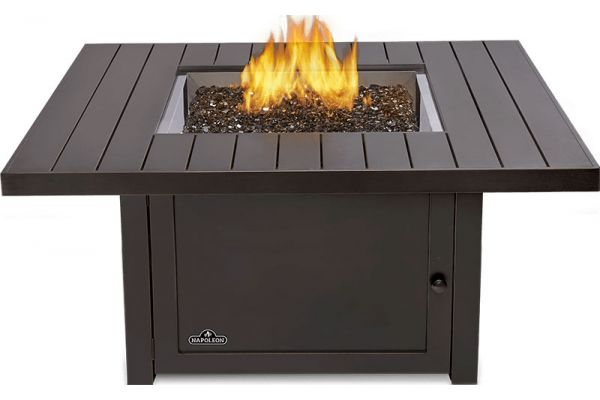 Large image of Napoleon Bronze St. Tropez Square Patioflame Table Liquid Propane Fireplace - STTR2-BZ
