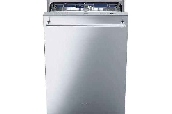 "Large image of Smeg 24"" Fingerprint-Proof Stainless Steel Built-In Dishwasher - STU8647X"