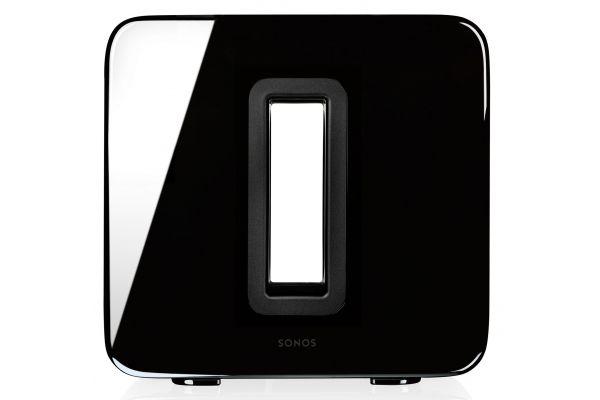 Large image of SONOS High Gloss Black Wireless Subwoofer - SUBGBUS1