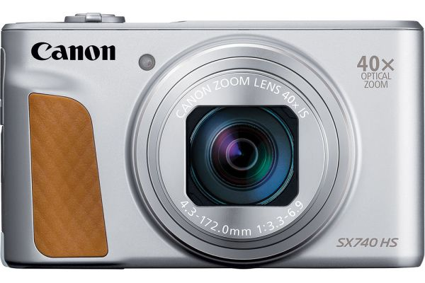 Large image of Canon PowerShot SX740 HS Silver 20.3 Megapixel Digital Camera - 2956C001