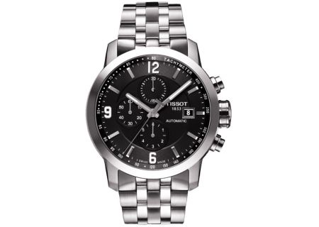 Tissot PRC 200 Automatic Chronograph Stainless Steel And Black Mens Watch  - T0554271105700