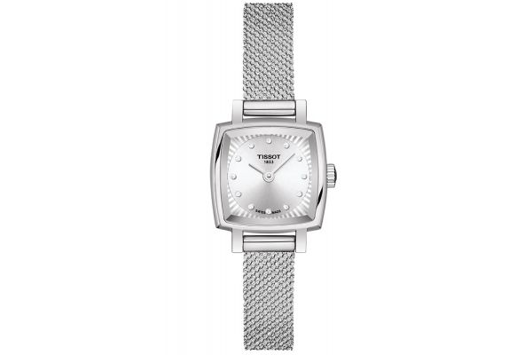 Large image of Tissot Lovely Square Stainless Steel Quartz Women's Watch - T0581091103600