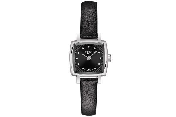 Tissot Lovely Square Black Quartz Womens Watch - T0581091605600