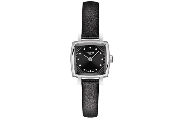 Large image of Tissot Lovely Square Black Quartz Womens Watch - T0581091605600