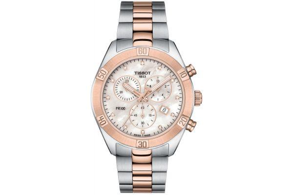 Large image of Tissot PR 100 Sport Chic Rose Diamond Womens Watch - T1019172211600